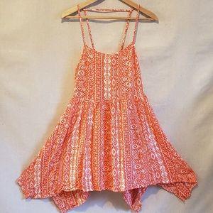 Anthropologie entro tribal boho high-low dress M